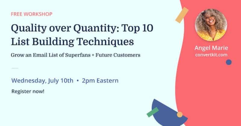 Top 10 list building techniques [LIVE workshop]